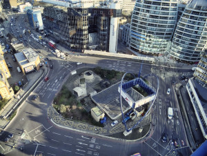 Old Street Roundabout from above in 2012. Photo by  Jack Torcello