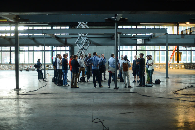 The startups get an advance tour of the soon to open New Lab at Brooklyn Navy Yard.